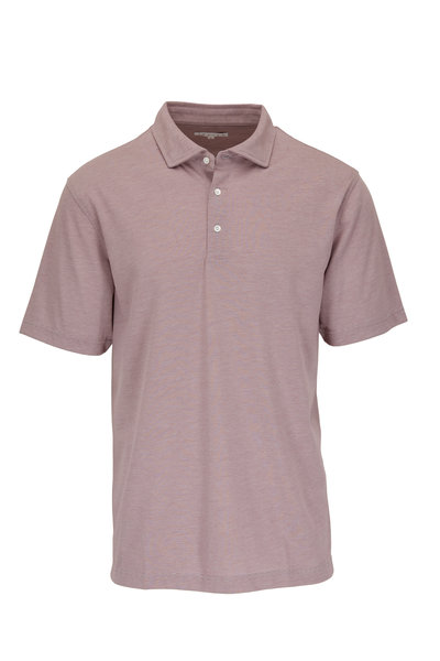 Vastrm - Mulberry Striped Sport Fit Polo