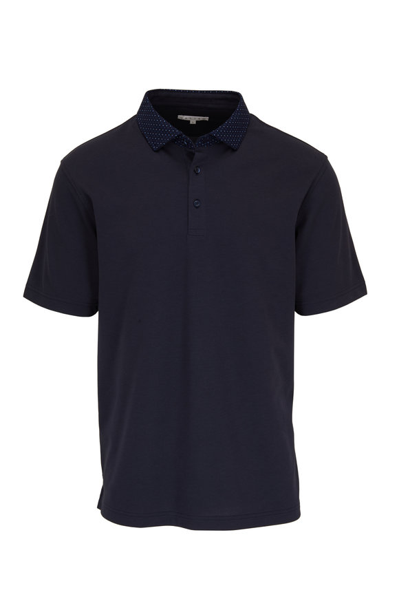 Vastrm Navy Blue Sport Fit Polo