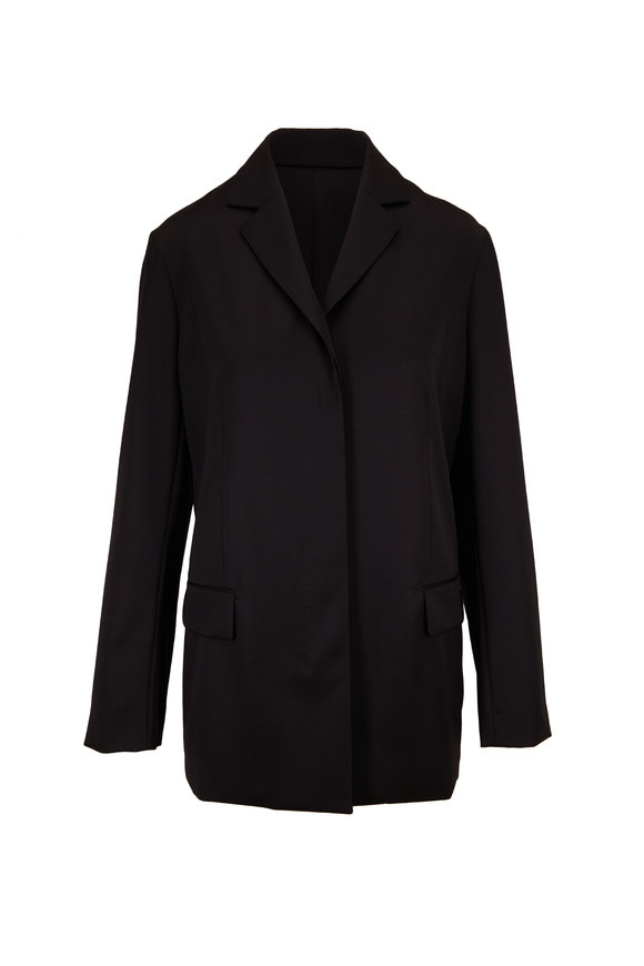 The Row Addysen Black Lightweight Wool Jacket
