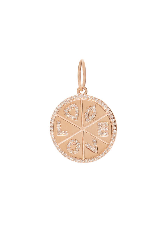 Kai Linz 14K Rose Gold Love Disc Charm