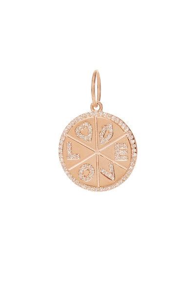 Kai Linz - 14K Rose Gold Love Disc Charm