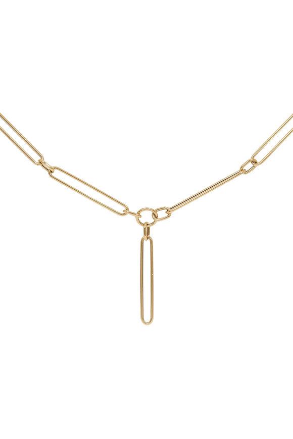 "Kai Linz 14K Yellow Gold Clip Link Necklace, 19"""
