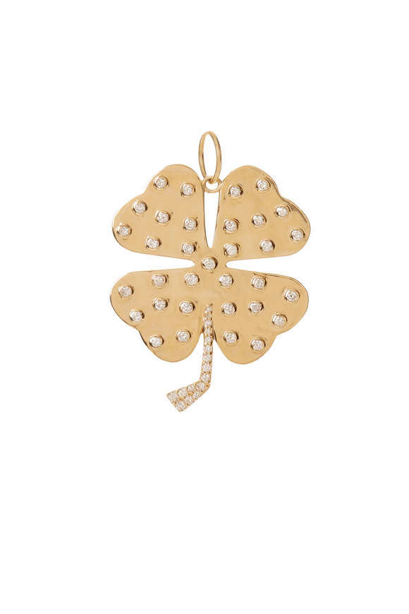 Kai Linz 14K Yellow Gold Four Leaf Clover Charm