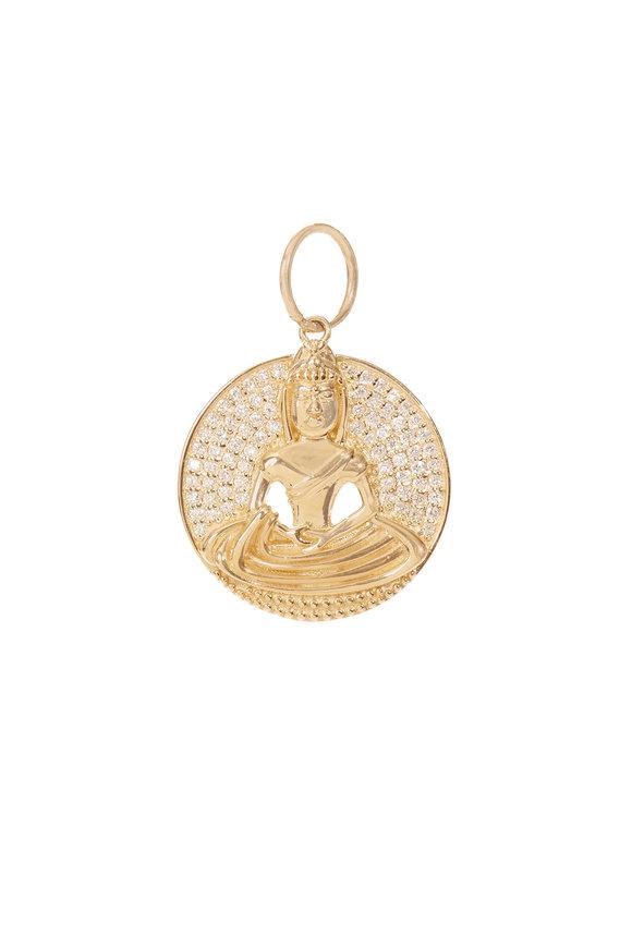 Kai Linz 14K Yellow Gold Buddha Disc Charm