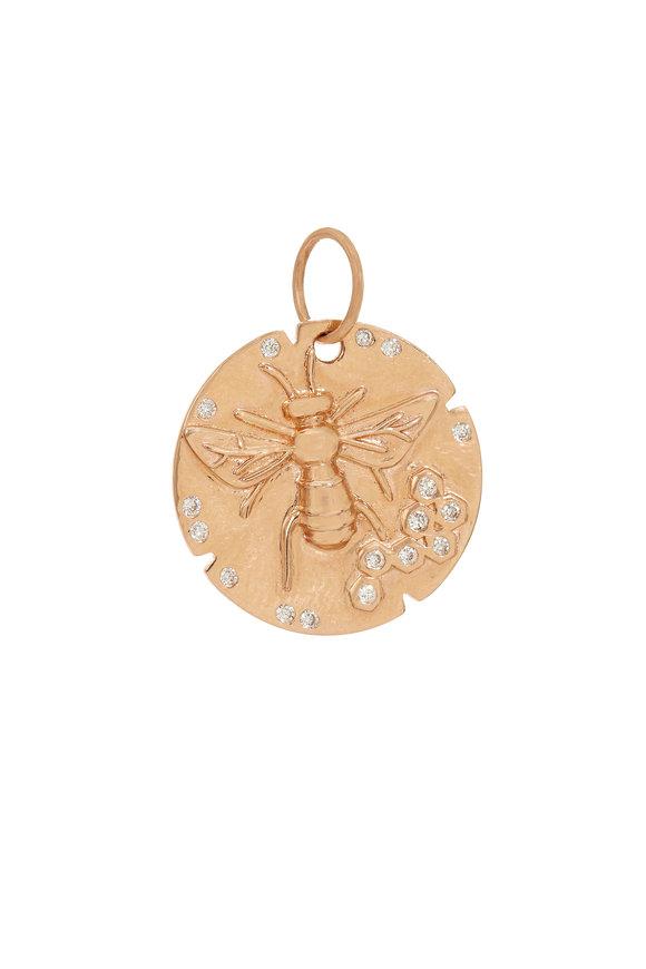 Kai Linz 14K Rose Gold Bumblebee Disc Charm