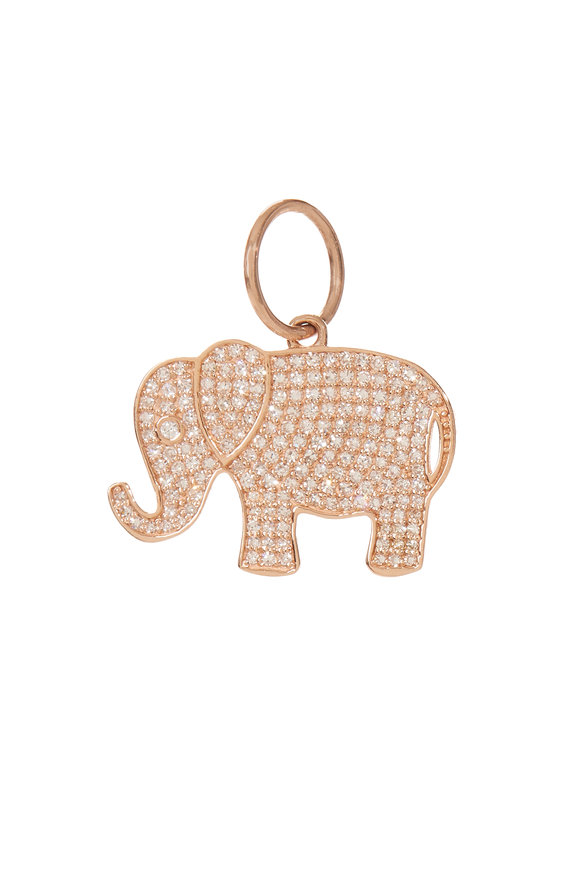 Kai Linz 14K Rose Gold Diamond Elephant Charm