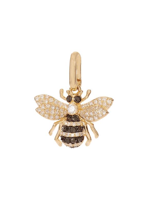 Kai Linz 14K Yellow Gold Diamond Bumblebee Charm