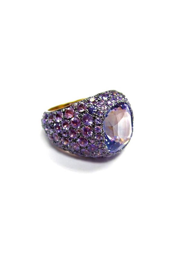 Bayco 18K Gold Purple Sapphire Cocktail Ring