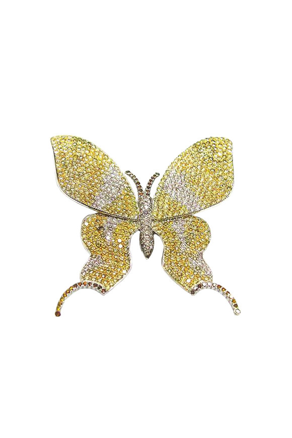Bayco Platinum Diamond Butterfly Pin
