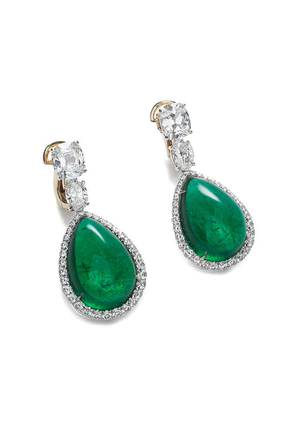Bayco Platinum Zambian Emerald Earrings