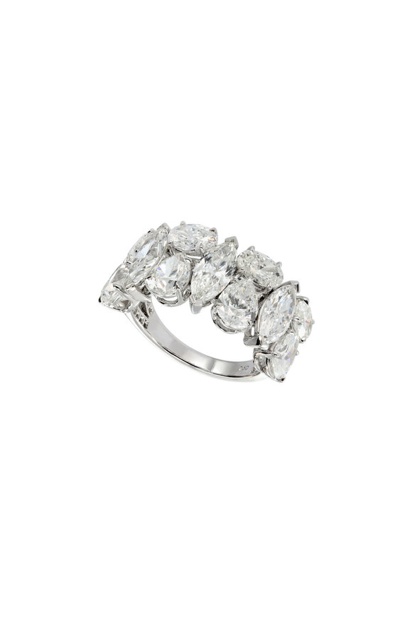 Etho Maria 18K White Gold Multi Shape Diamond Cocktail Ring