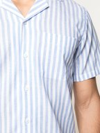 Orlebar Brown - Thunderball Blue & White Striped Shirt