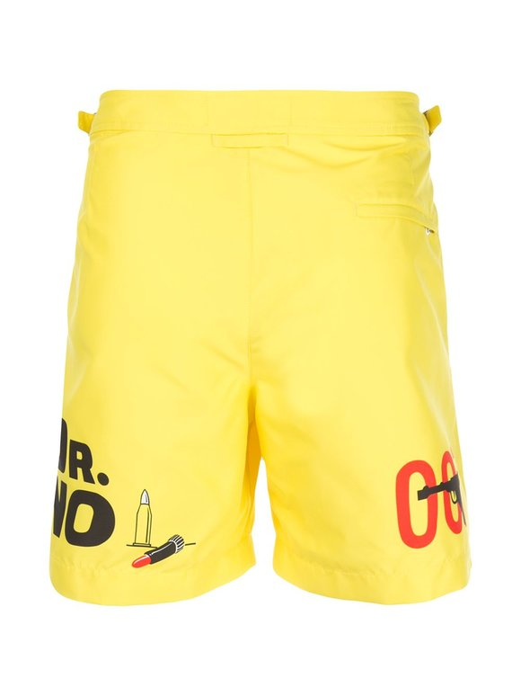 Orlebar Brown Dr. No Yellow Bulldog Swim Trunks