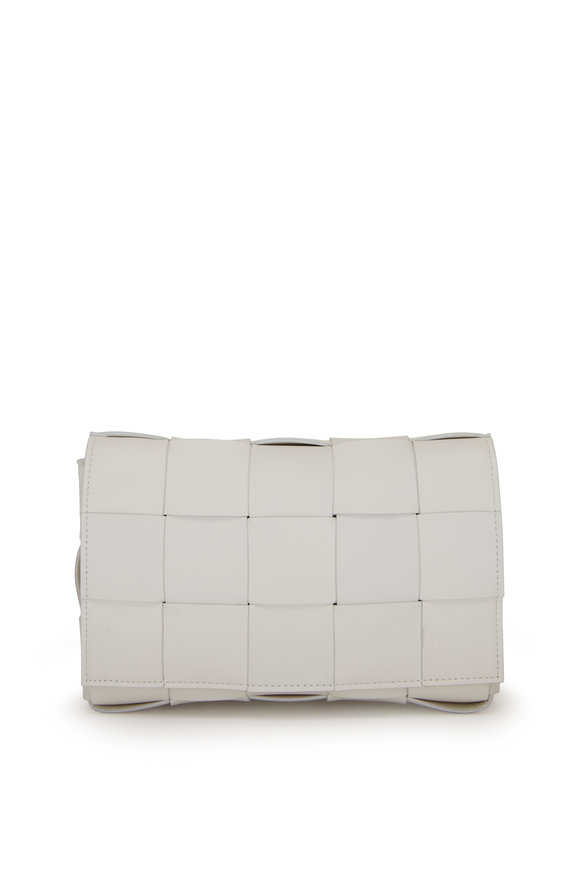Bottega Veneta Cassette White Quilted Leather Small Bag