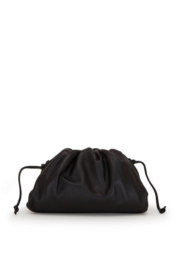 Bottega Veneta The Pouch Black Leather Small Crossbody Bag