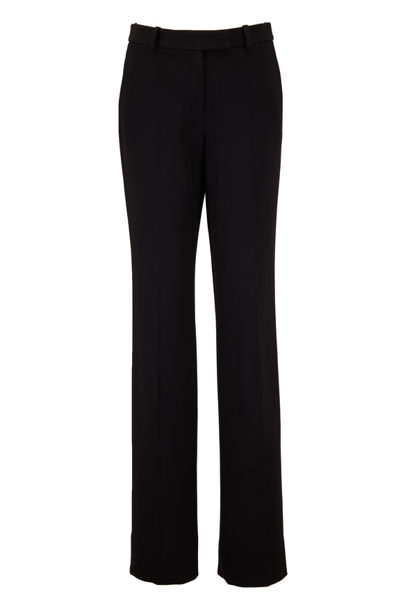 Michael Kors Collection Hansen Black Double Crêpe Straight Leg Pant