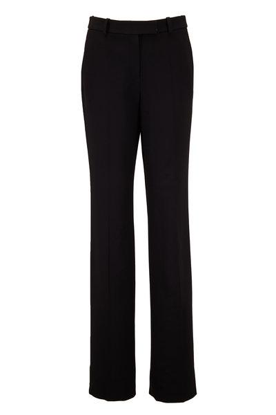 Michael Kors Collection - Hansen Black Double Crêpe Straight Leg Pant