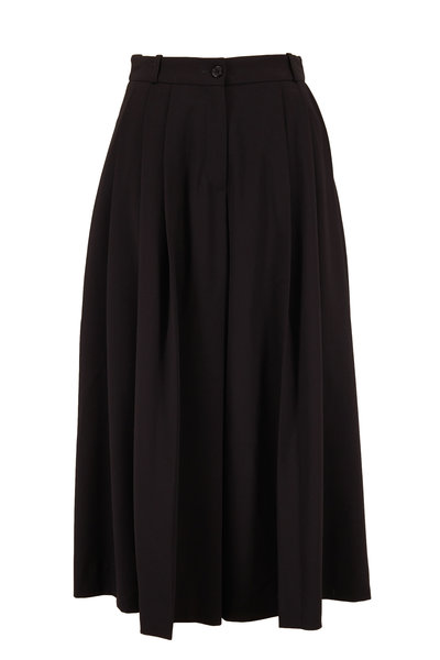 Michael Kors Collection - Black Wool Culottes