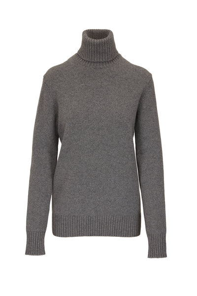 Michael Kors Collection - Banker Gray Cashmere Turtleneck Sweater