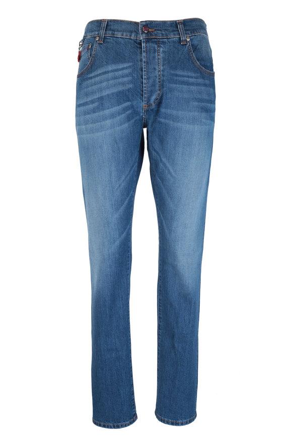 Isaia Classic Wash Five Pocket Jean