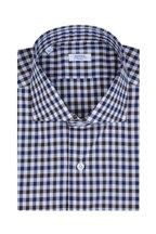 Barba - Blue & Brown Check Sport Shirt