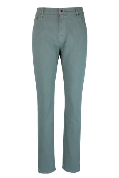 Raleigh Denim - Martin Eucalyptus Stretch Cotton Five Pocket Jean