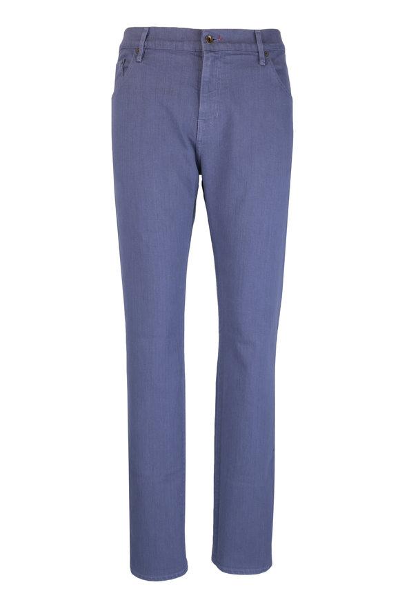 Raleigh Denim Martin Dutch Blue Stretch Cotton Five Pocket Jean
