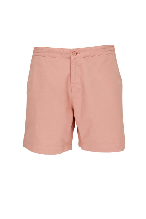 Orlebar Brown Bulldog Sundown Pink Cotton & Linen Shorts