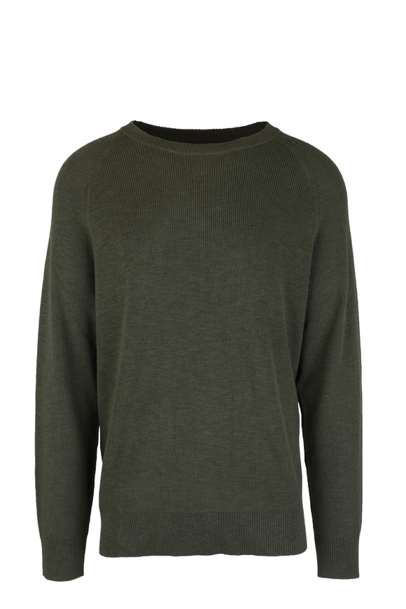NEUW Syngle Military Green Knit Sweater