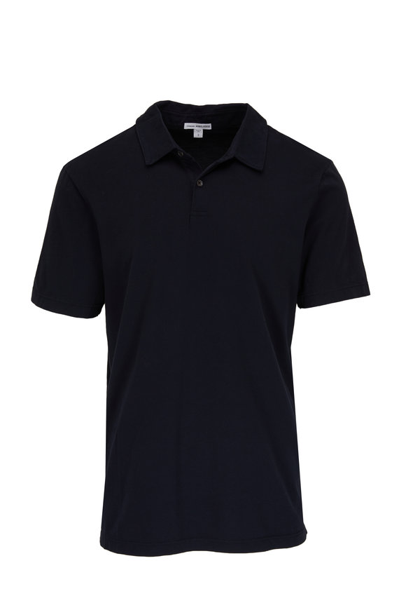 James Perse Navy Cotton Jersey Polo