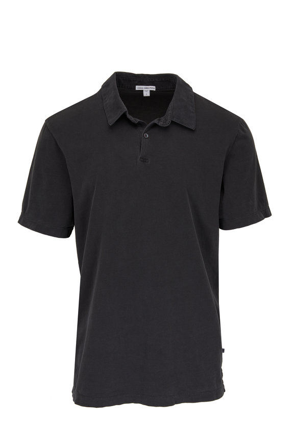 James Perse Carbon Cotton Jersey Polo