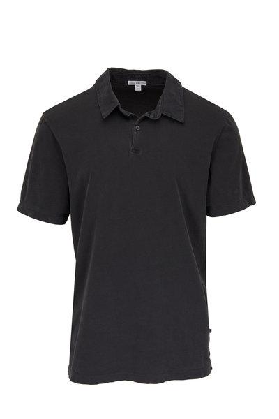 James Perse - Carbon Cotton Jersey Polo