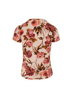 L'Agence - Ressi Blush Floral Print Jersey T-Shirt