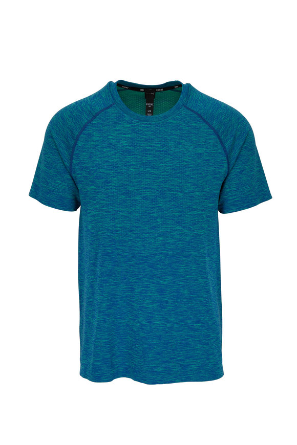 Rhone Apparel Reign Tech Lime & Teal Mesh Short Sleeve Top