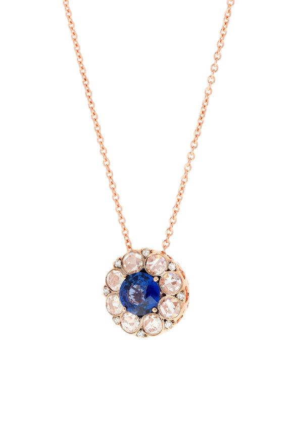 Selim Mouzannar 18K Rose Gold Sapphire & Diamond Pendant Necklace
