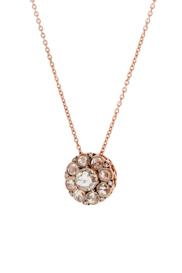 Selim Mouzannar 18K Rose Gold Diamond Pendant Necklace