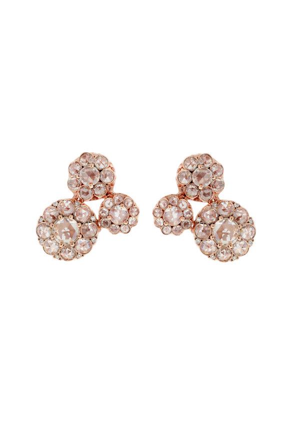 Selim Mouzannar 18K Rose Gold Diamond Earrings
