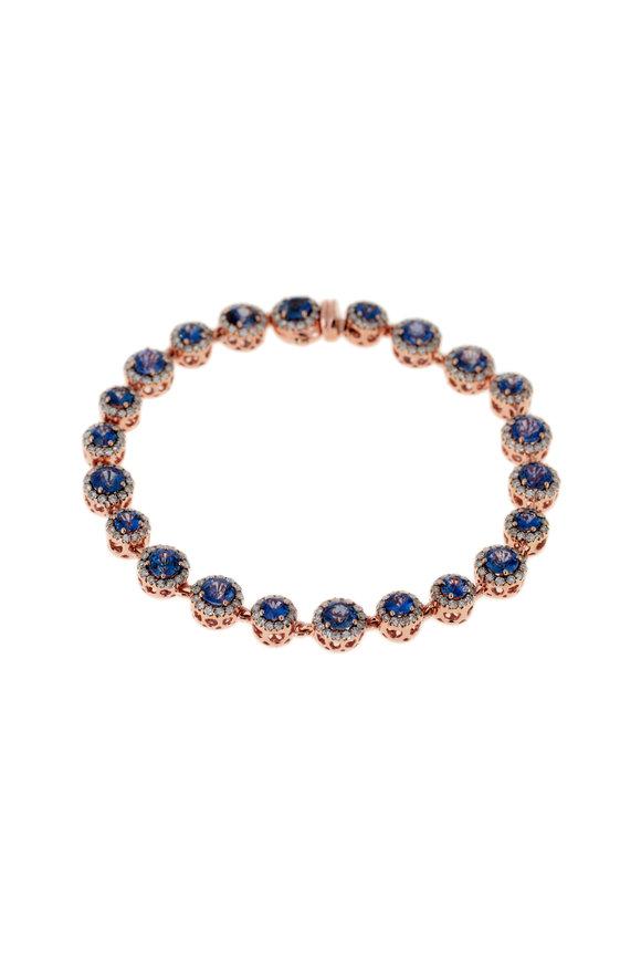Selim Mouzannar 18K Rose Gold Sapphire & Diamond Bracelet