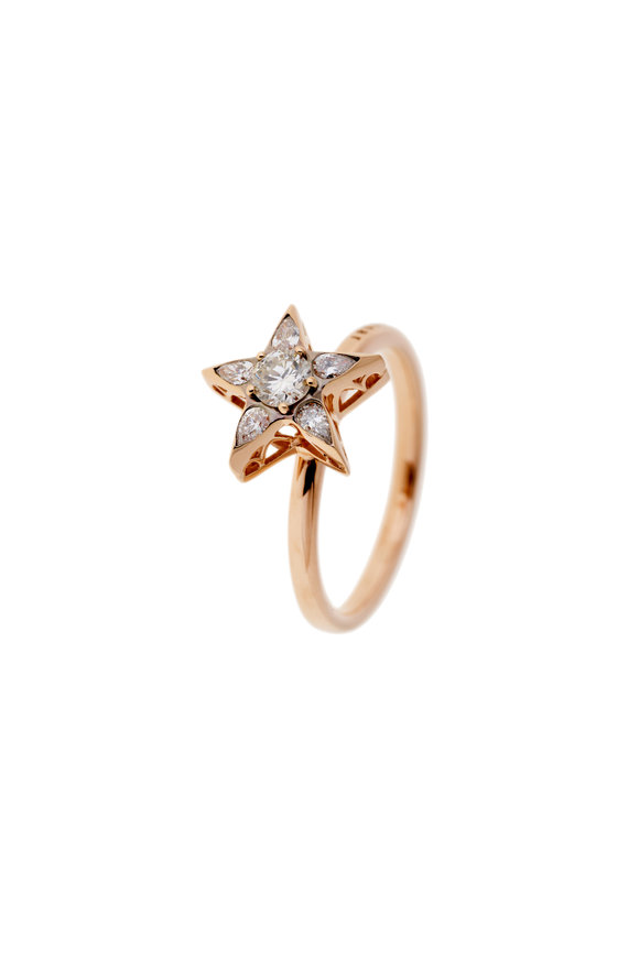 Selim Mouzannar 18K Rose Gold Diamond Star Ring