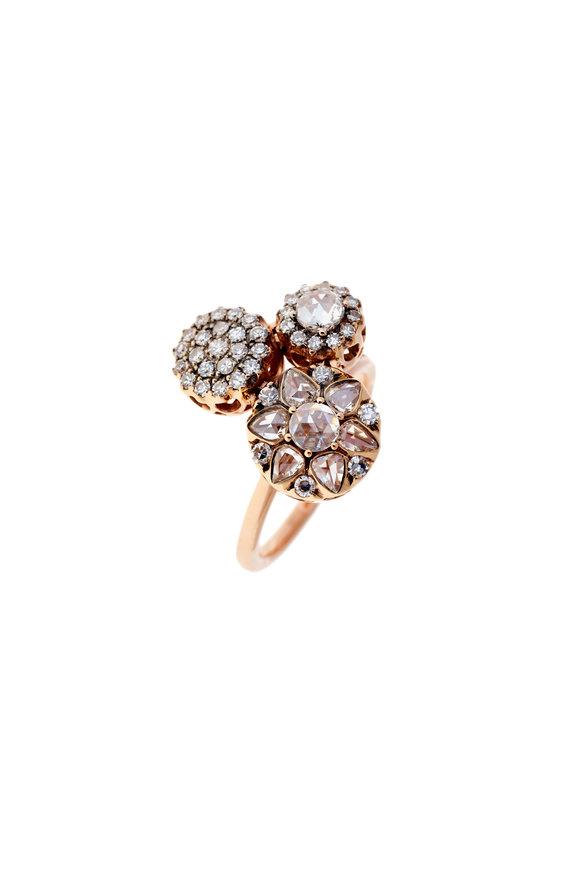 Selim Mouzannar 18K Rose Gold Diamond Ring