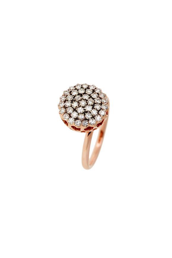 Selim Mouzannar 18K Rose Gold Diamond Ring