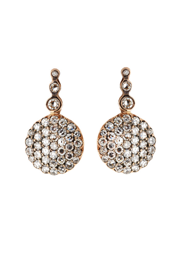 Selim Mouzannar 18K Rose Gold Diamond Earrings