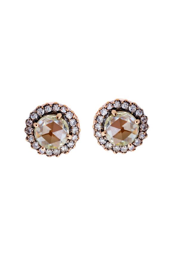 Selim Mouzannar 18K Rose Gold Diamond Stud Earrings