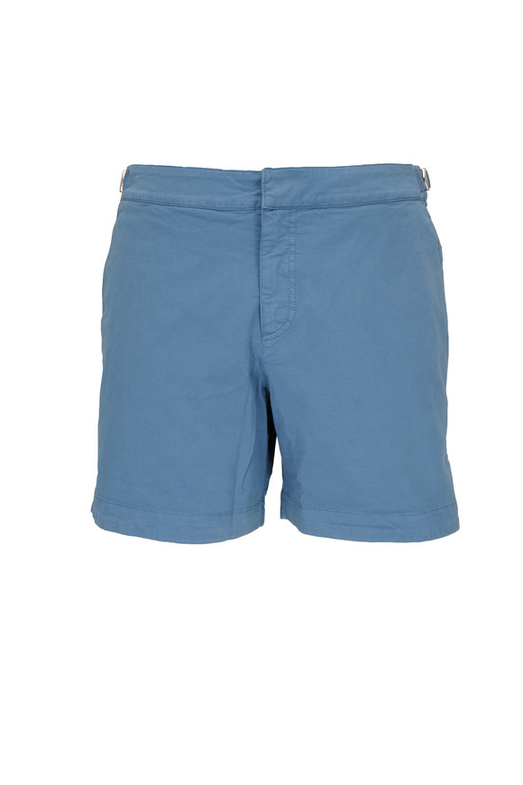 Orlebar Brown Bulldog Blue Haze Cotton Twill Shorts
