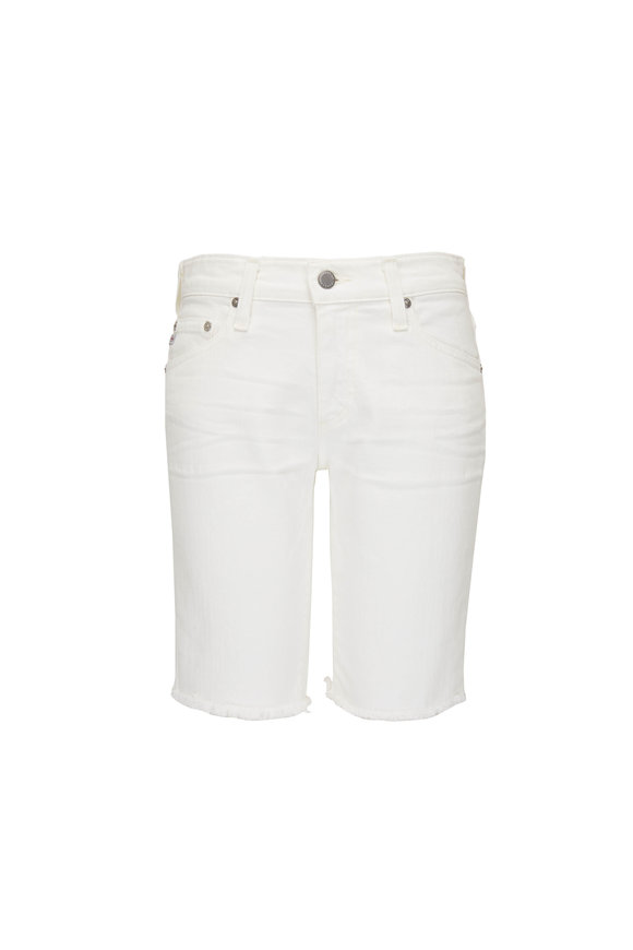 AG Nikki White Relaxed Skinny Denim Shorts