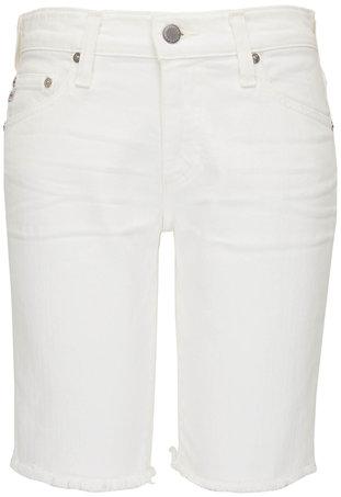 AG Nikki White Relaxed Skinny Denim Shorts