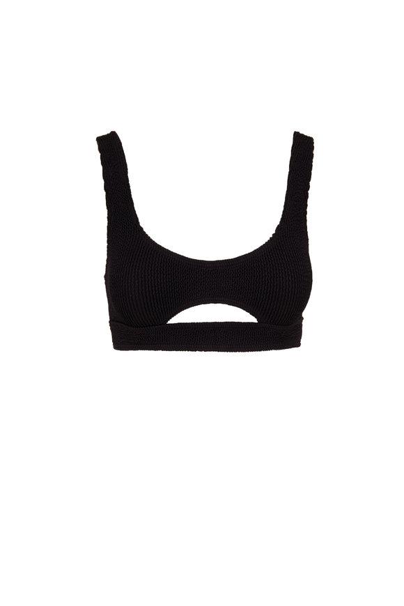 Bond Eye Australia The Sasha Solid Black Cut-Out Detail Bikini Top