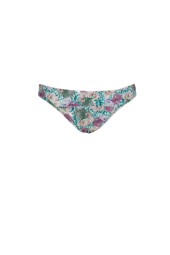 Sinesia Karol Penelope Green & Purple Print Bikini Bottom