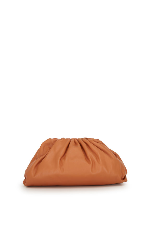 Bottega Veneta The Pouch Clay Leather Large Clutch