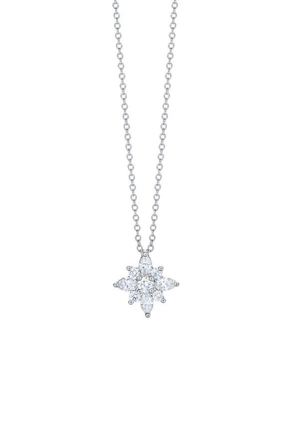 Kwiat 18K White Gold Diamond Star Pendant Necklace
